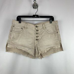 Free People Button Front Cutoff Shorts Sz. 28
